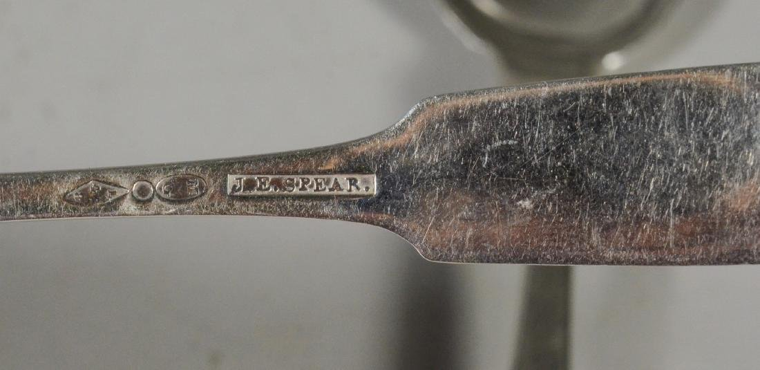 (5) Charleston, SC coin silver teaspoons - 2