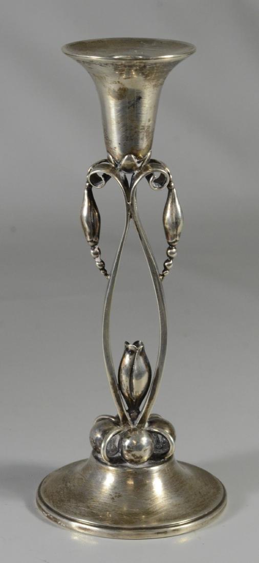 (3) pc Durham Silver Co sterling candelabra set - 5