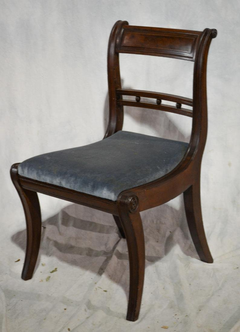 (4) mahogany American Federal dining room chairs - 2