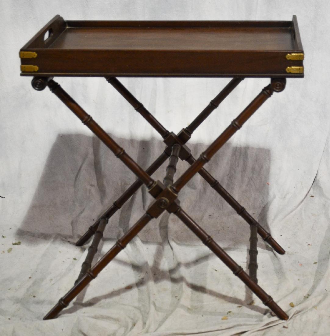 Regency-style mahogany butler's tray