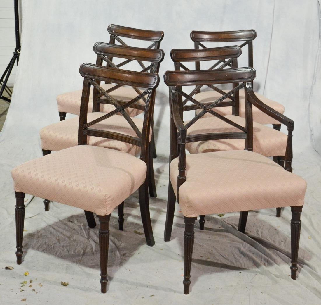 (6) Mahogany American Federal dining room chairs
