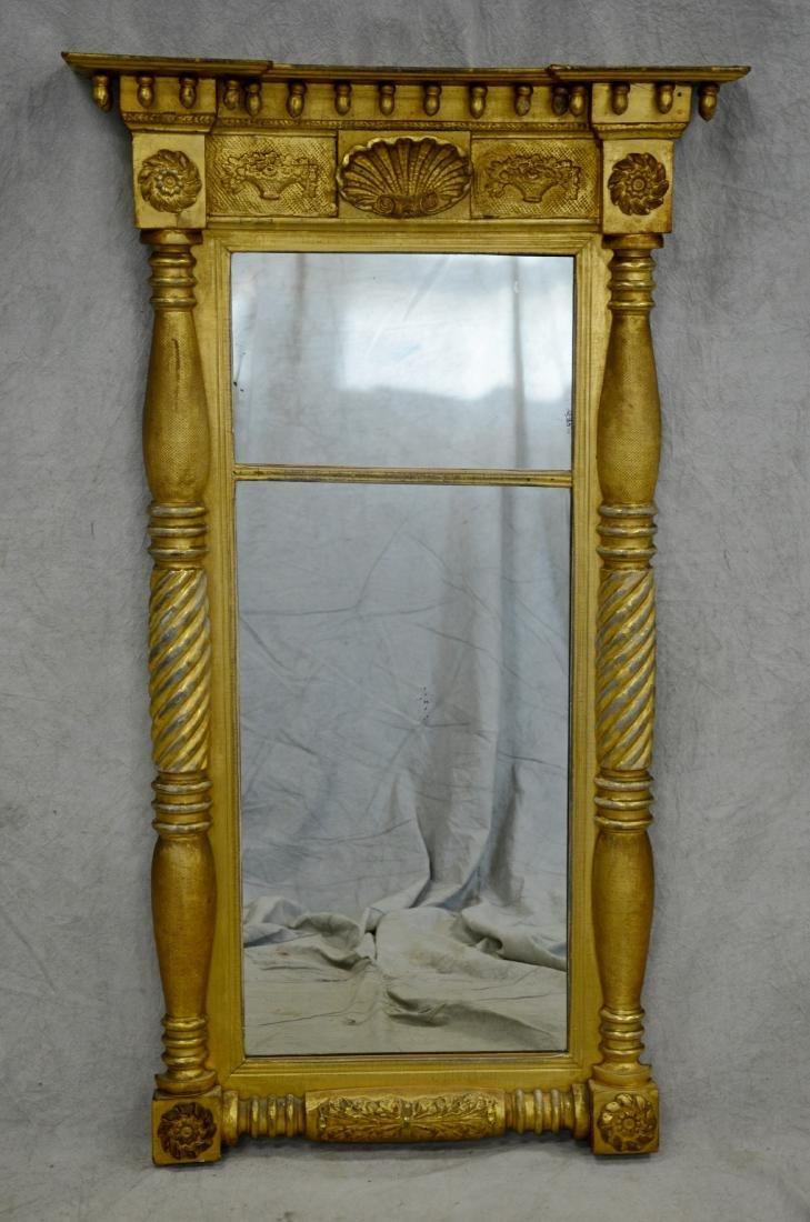 Gilt Federal split spindle mirror