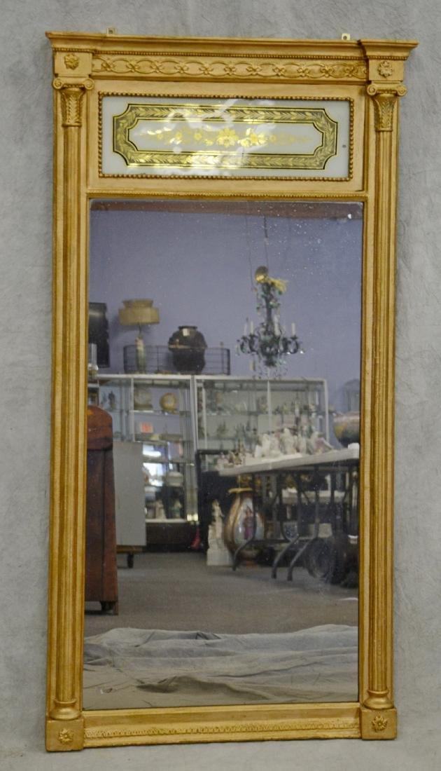 Gilt Classical eglomise mirror
