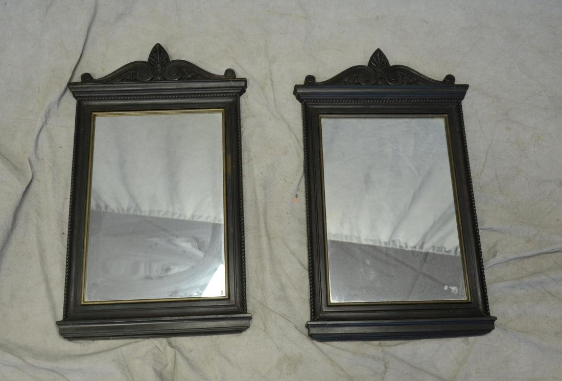 Pr bronze framed mirrors, late 19th/early 20th c