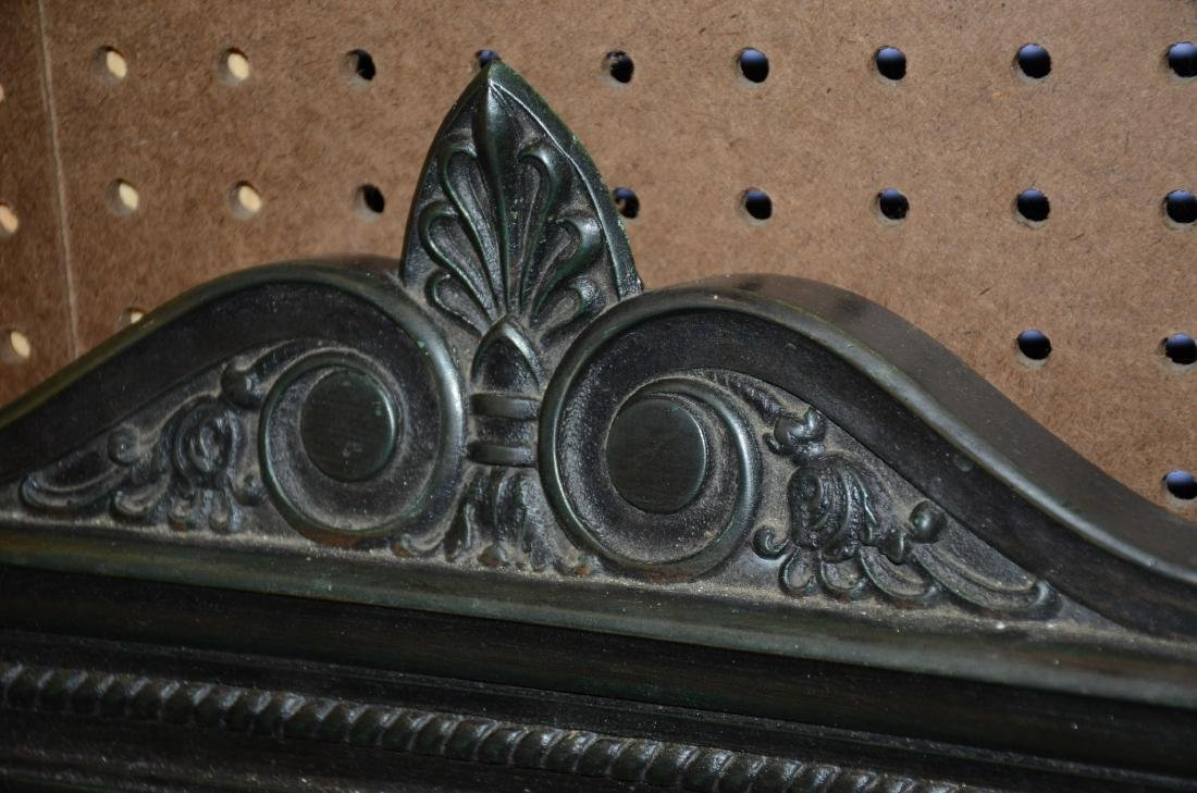 Pr bronze framed mirrors, late 19th/early 20th c - 2