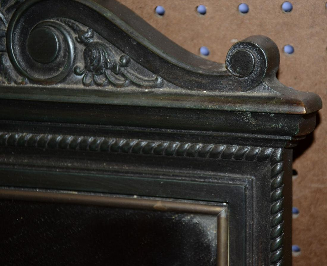 Pr bronze framed mirrors, late 19th/early 20th c - 3