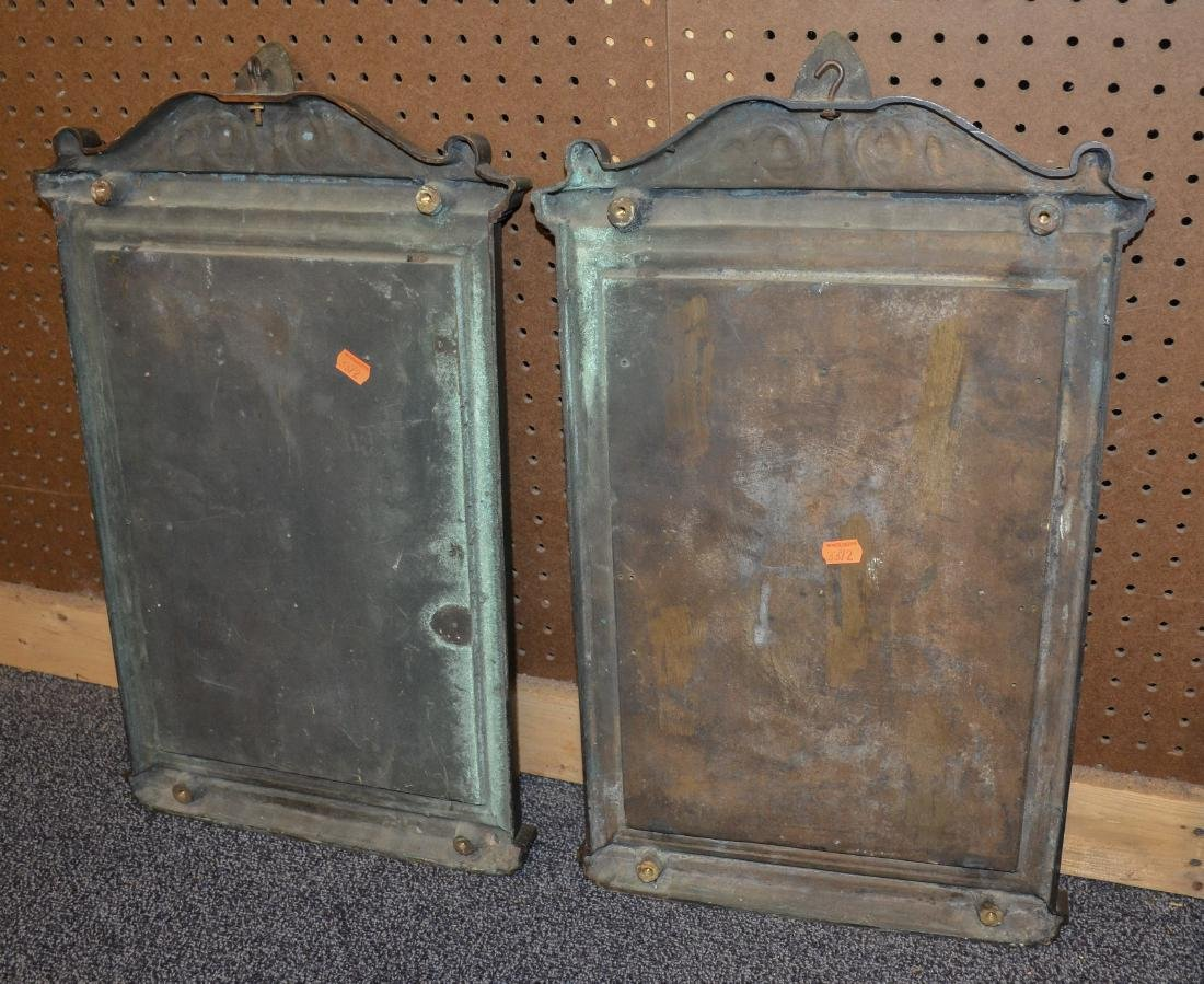 Pr bronze framed mirrors, late 19th/early 20th c - 4