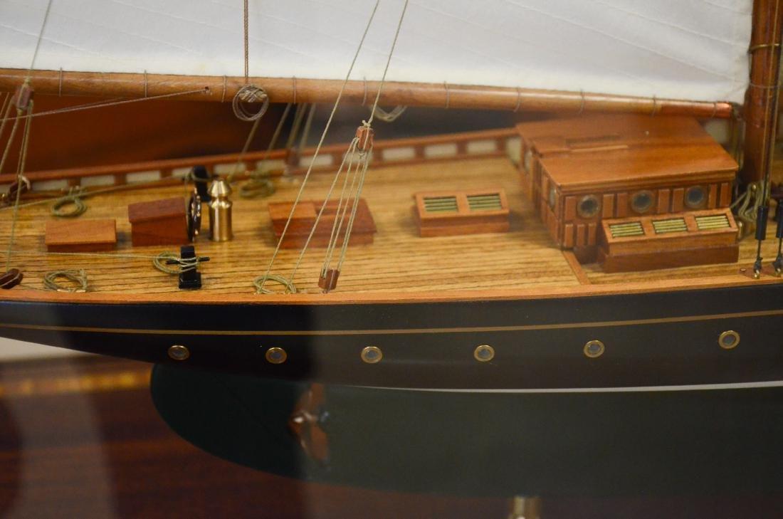 Clipper ship model, custom inlaid mahogany case - 5
