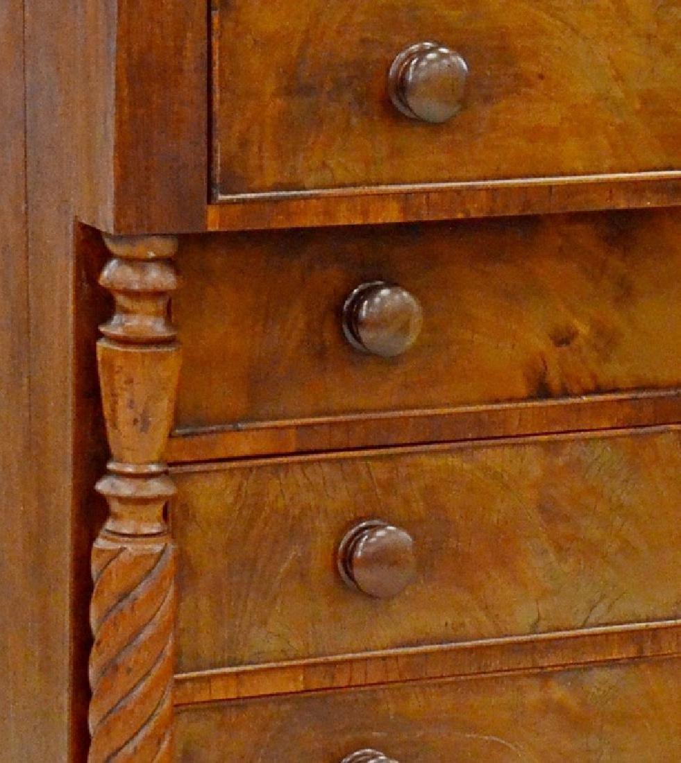 Maine mahogany Sheraton bureau - 2