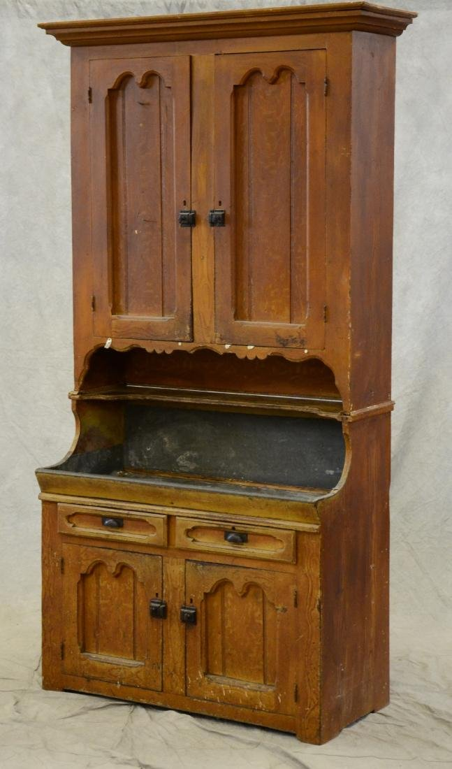 2 pc grain painted softwood dry sink