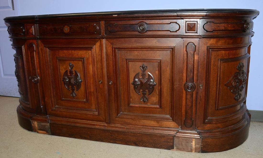 Walnut Victorian Renaissance Revival MT sideboard
