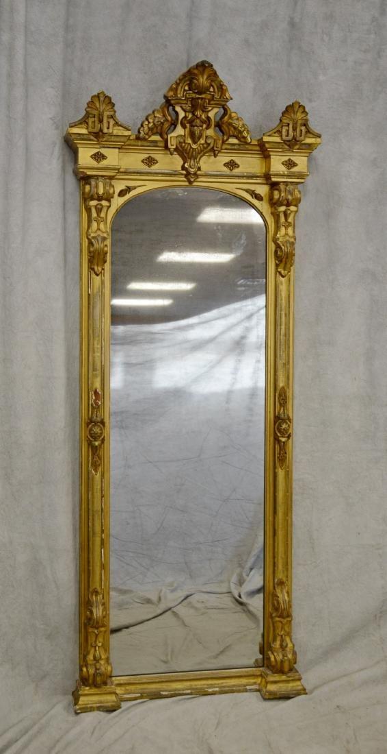 Renaissance Revival gold leaf Victorian pier mirror