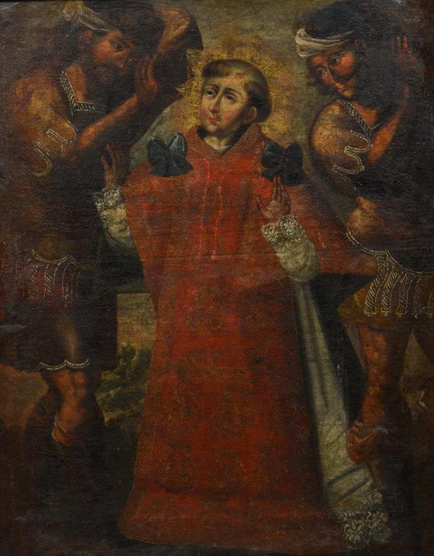 18th C, Continental, o/c, painting of a saint