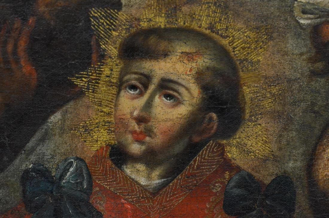 18th C, Continental, o/c, painting of a saint - 4