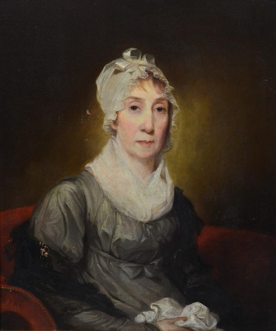 Attributed Gilbert Stuart, 1756-1828. o/panel