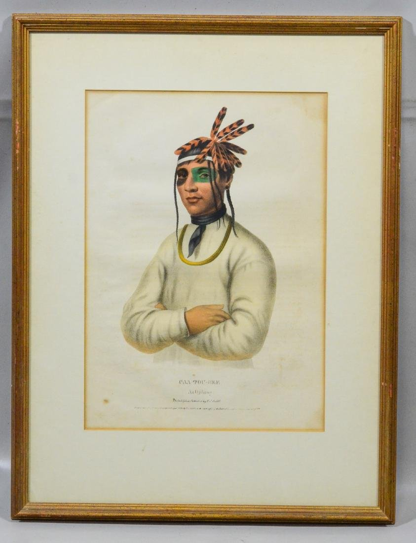 "McKenney & Hall, color lithograph, ""Caa-Tou-See… - 2"