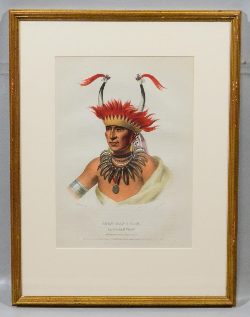 "McKenney & Hall, color lithograph, ""Chon-Man-I-Case, - 2"
