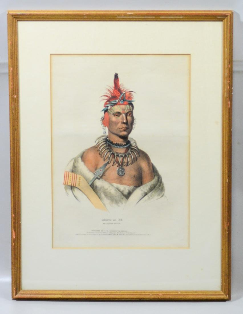 "McKenney & Hall, color lithograph,""Chono Ca Pe, …. - 2"