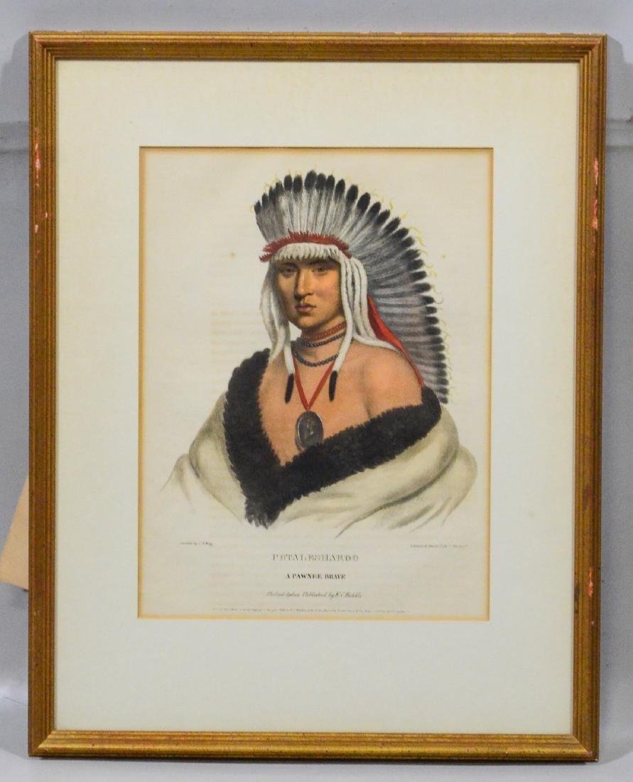 "McKenney & Hall, color lithograph, ""Petalesharoo, A P - 2"