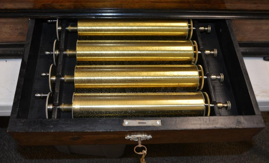 Longue Marche 6 cylinder Swiss music box - 6