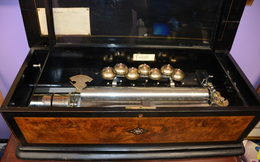 Paillard 10 tune Soprano Bells  Swiss music box - 3