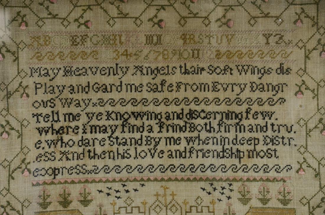 Mary Atkinson, Her Needlework Age 9 - 2