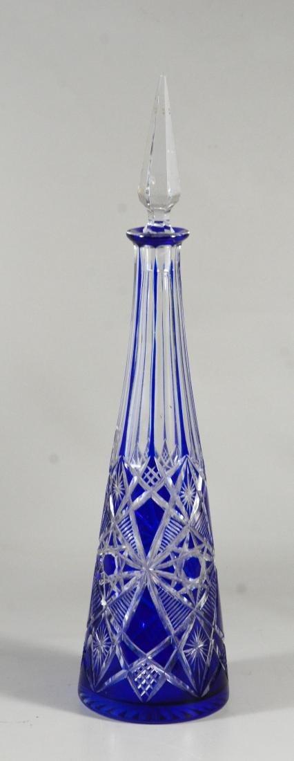Pr Baccarat Tsar pattern Bohemian decanters - 2