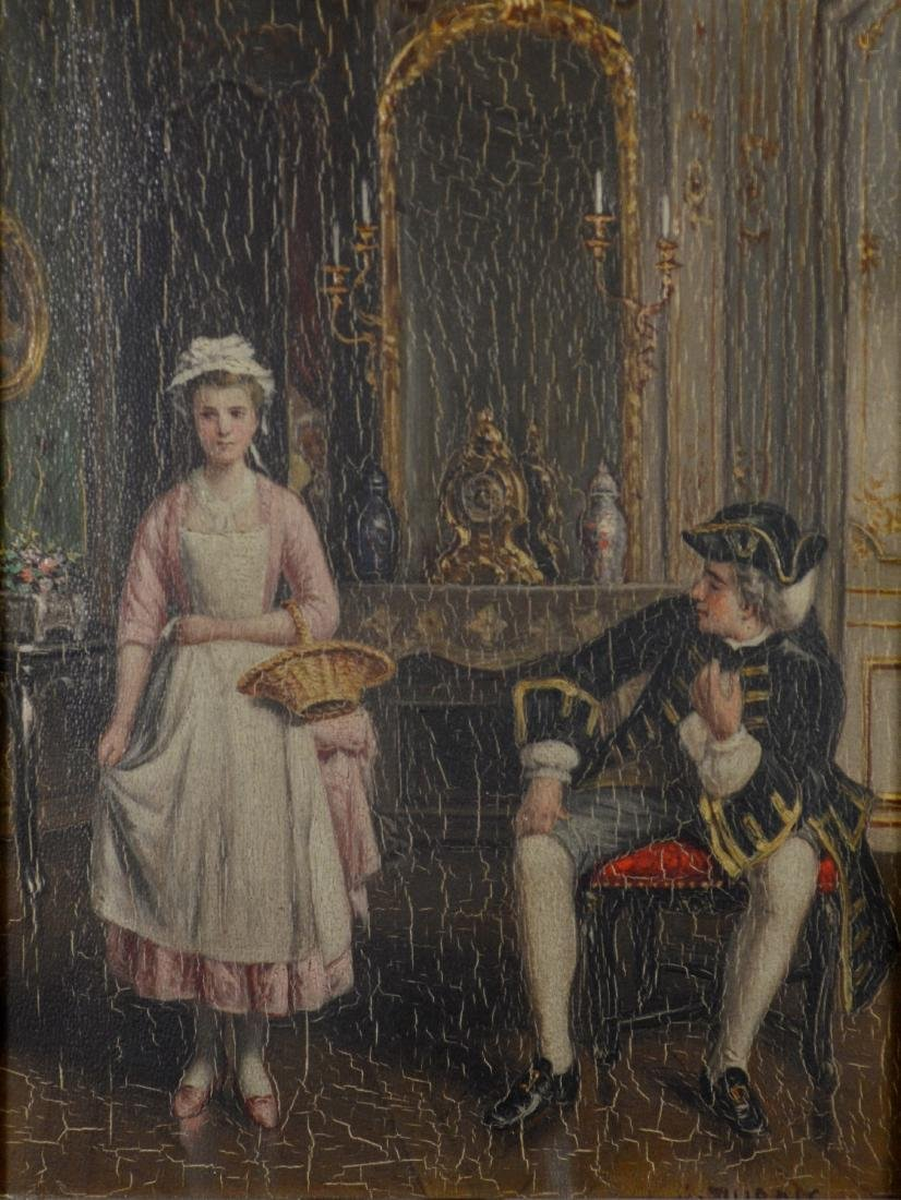 A DuBois, 19th C French, oil/panel