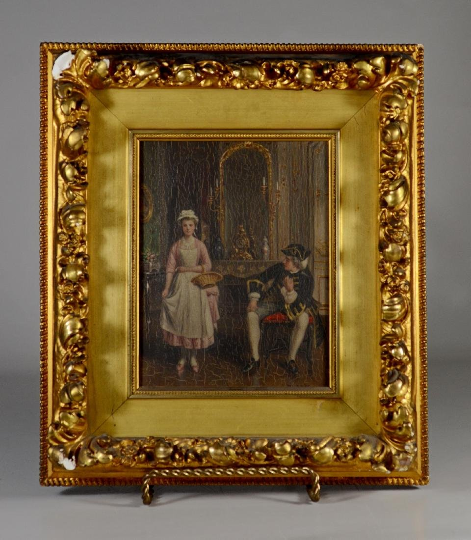 A DuBois, 19th C French, oil/panel - 2