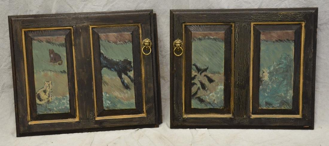(4) Karen Wolf raised wood painted door panels - 3