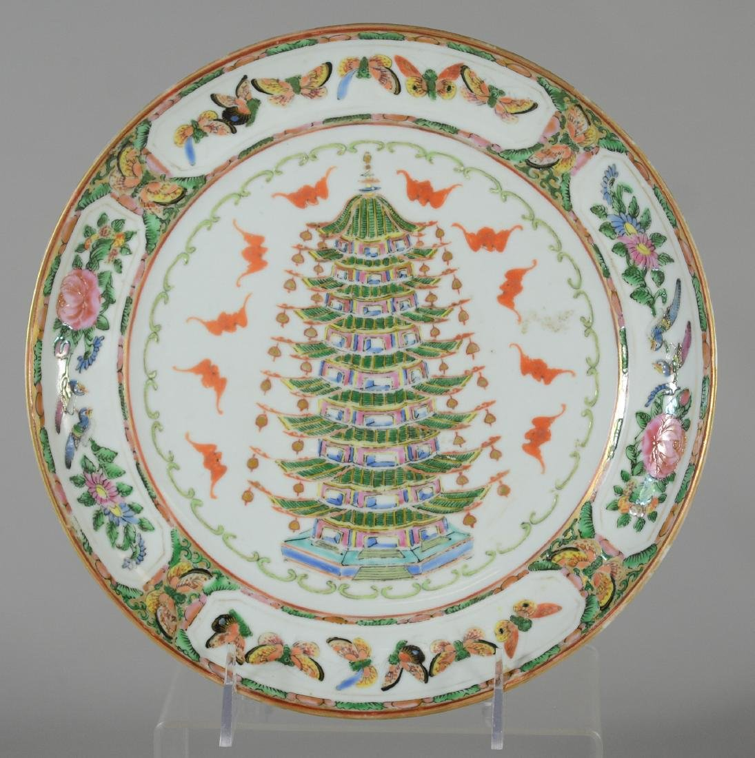 Famille Rose Chinese porcelain plate
