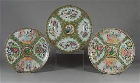 3 pcs Famille Rose Medallion Chinese porcelain