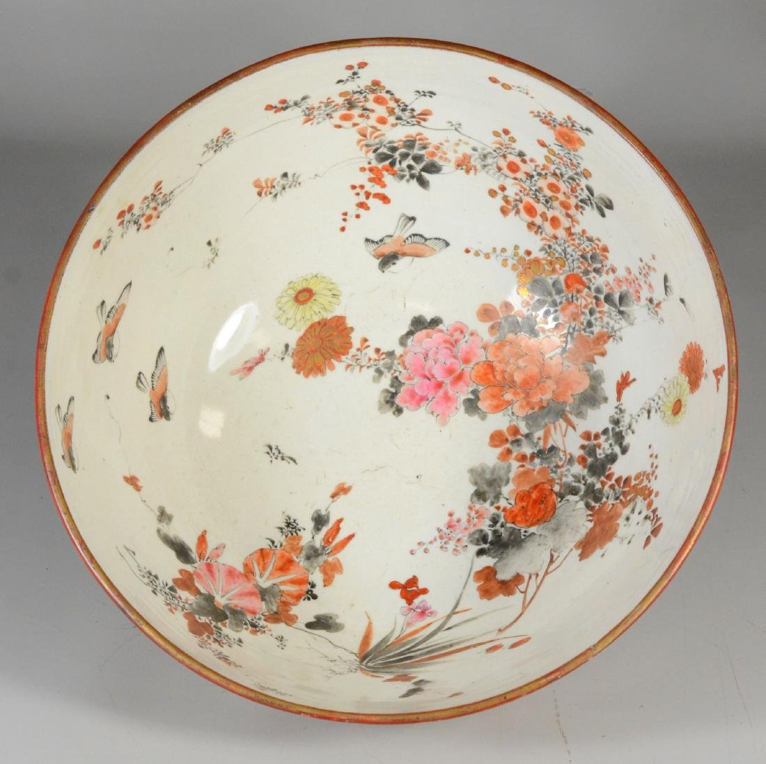 "Japanese Kutani  center bowl, 1000 Faces , 11 3/4"" d - 6"