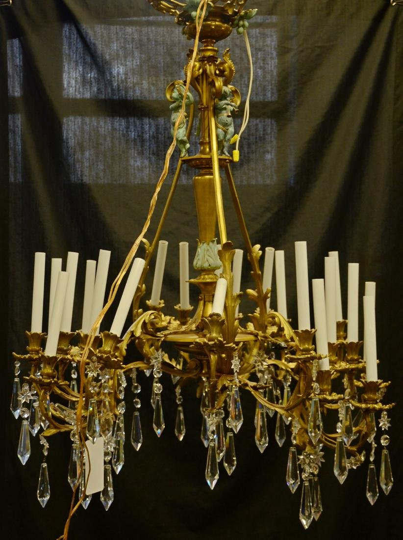 French style chandelier w/ putti