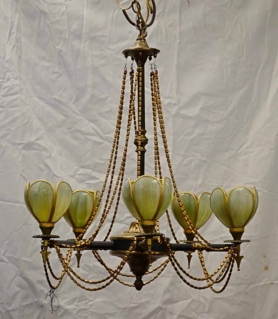 French empire style 5 arm chandelier