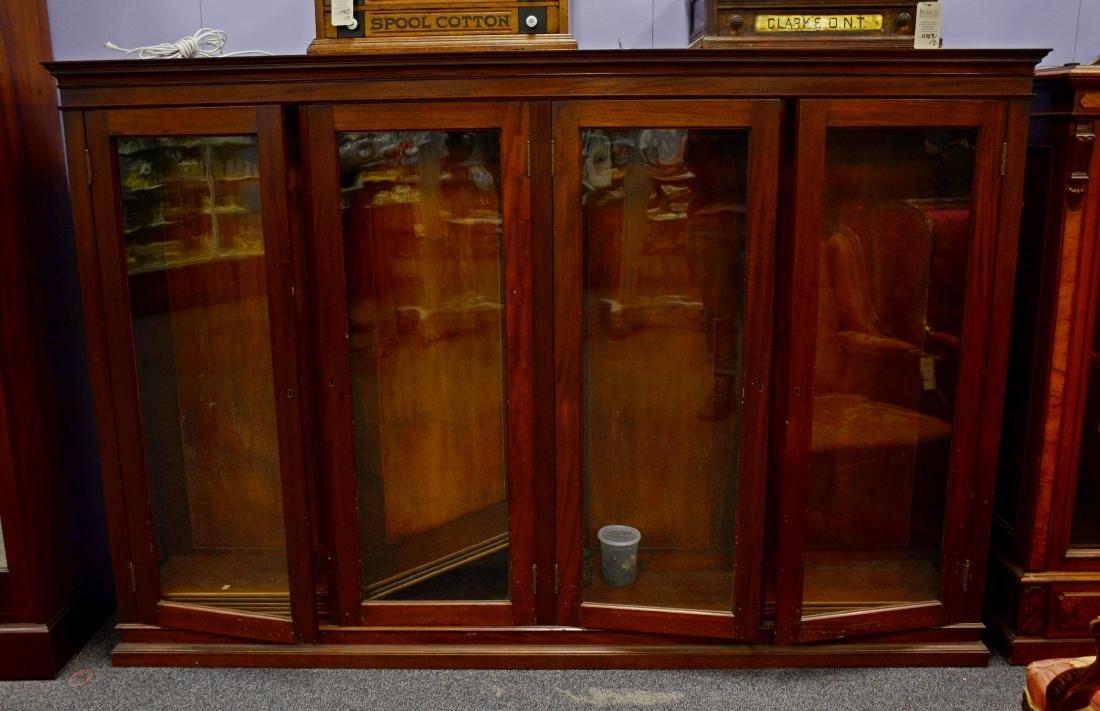 4 door walnut bookcase