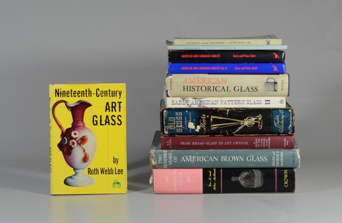 11 reference books on antique glass - 3