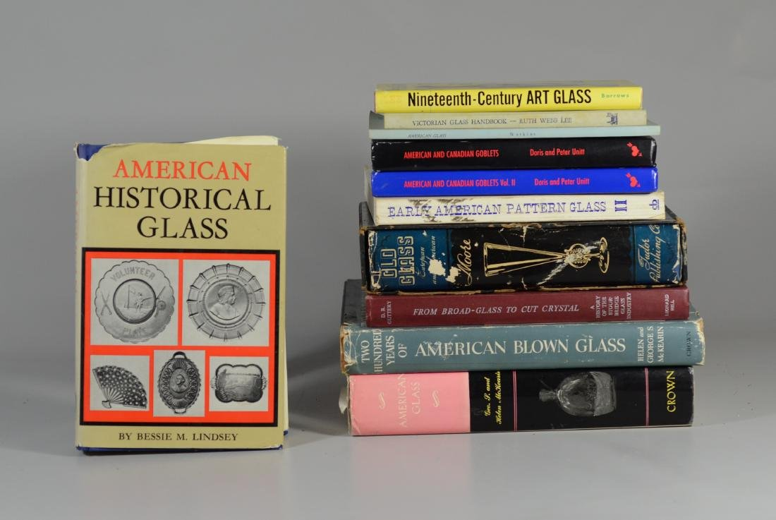 11 reference books on antique glass - 4