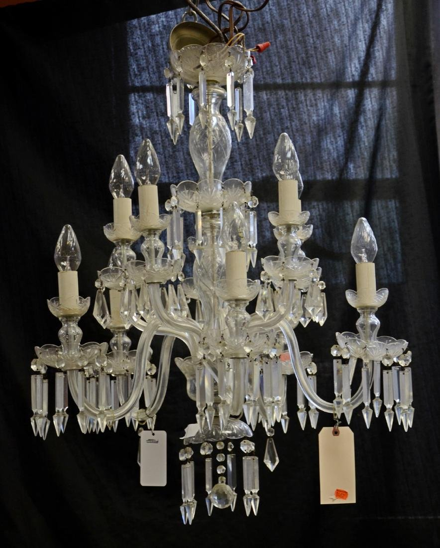 French style cut glass chandelier