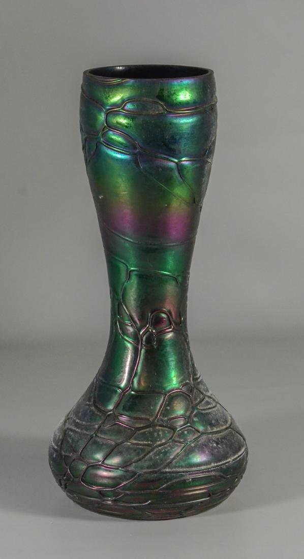 Loetz type art glass vase