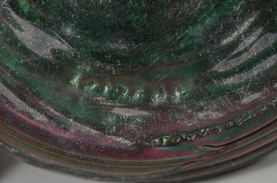 Loetz type art glass vase - 6