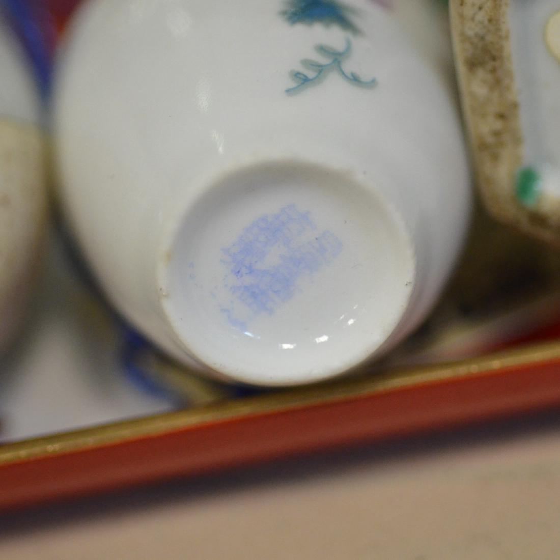 (6) Pieces miniature Chinese porcelain - 5