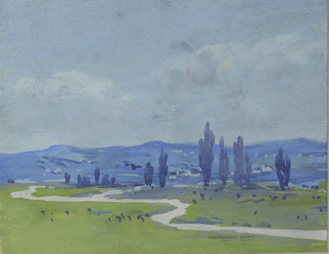 Marianna Sloan (American, PA, 1875-1954), set of 3 wa - 2