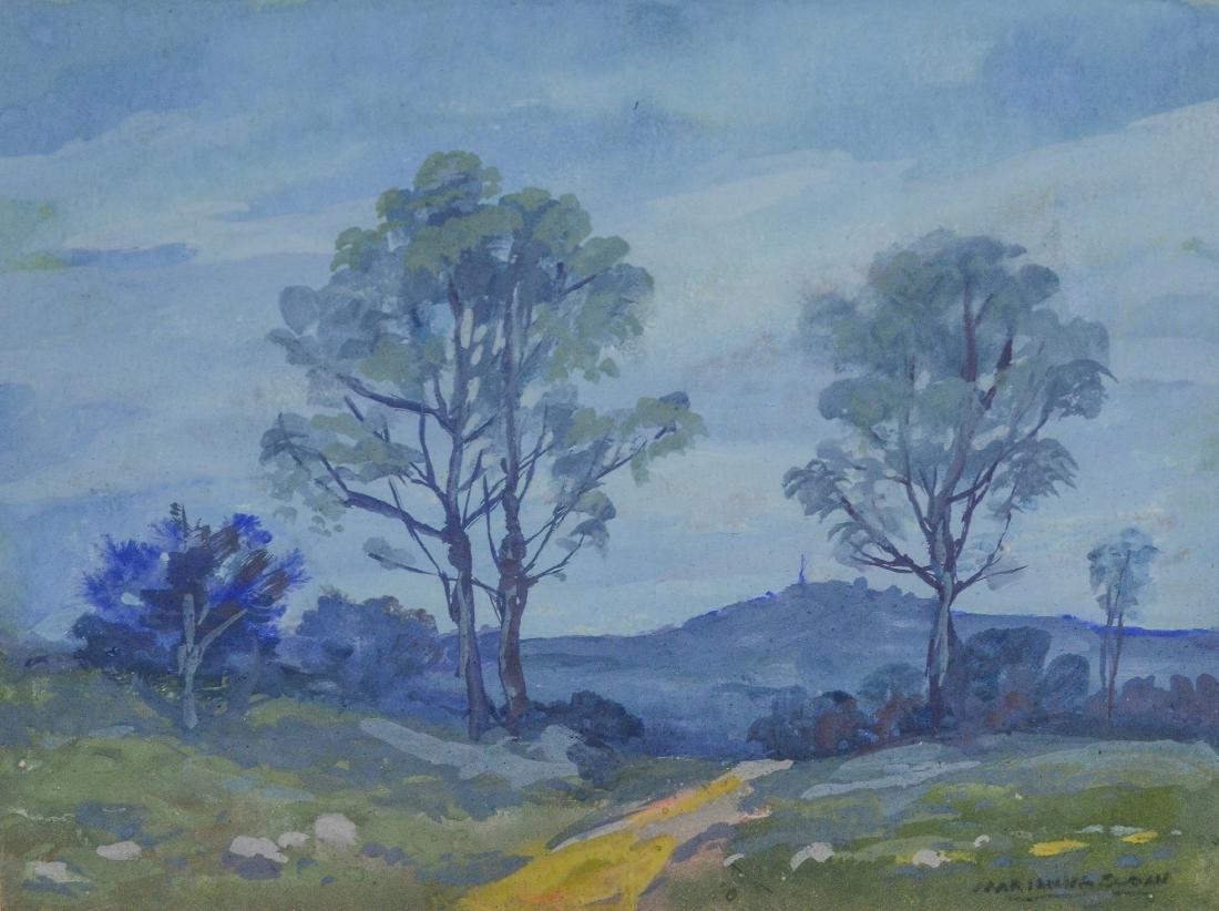 Marianna Sloan (American, PA, 1875-1954), set of 3 wa - 4