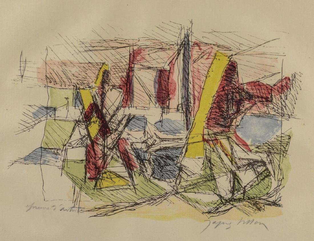 Jacques Villon (French 1875-1963), abstract color aqu