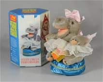 2 Steiff plush toys, Hippo Fat Lady 0146/19 Bunny Pu