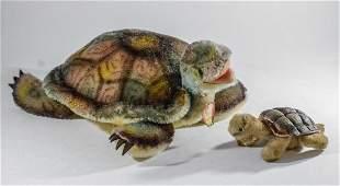 2 Steiff plush Slo Turtles 2450/22 2450/10