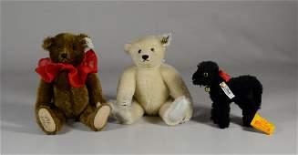 3 Steiff plush Ltd Ed animals 1 Signed
