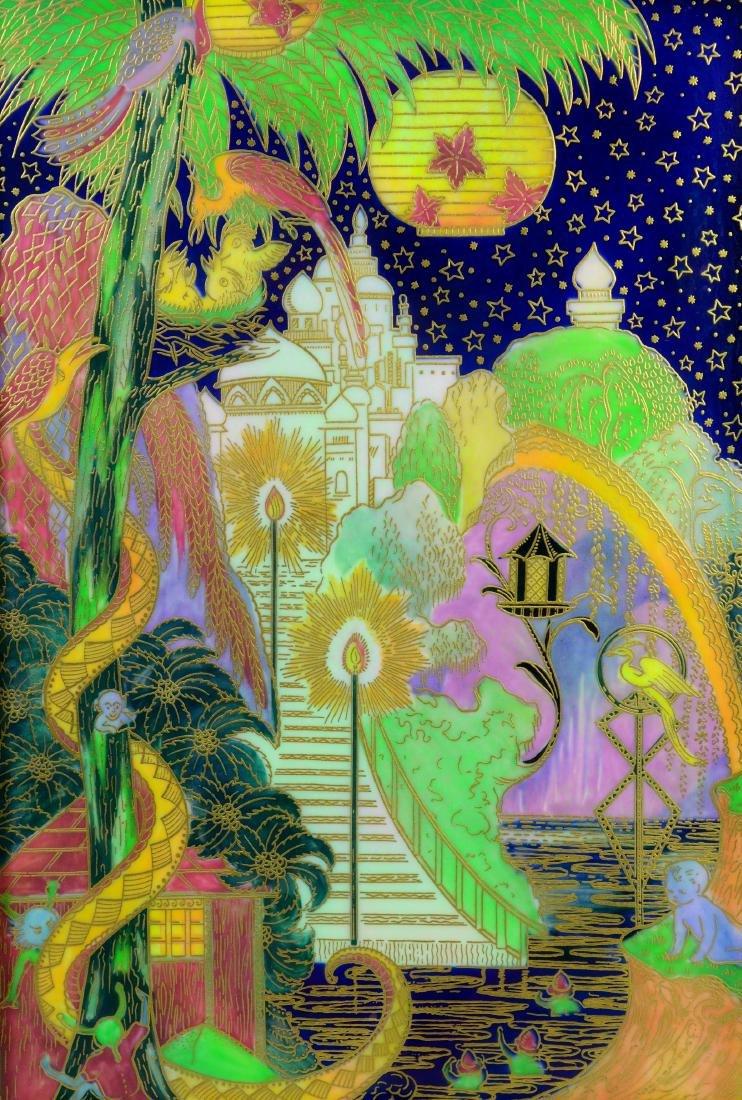 Wedgwood Fairyland Lustre plaque, The Enchanted Palace