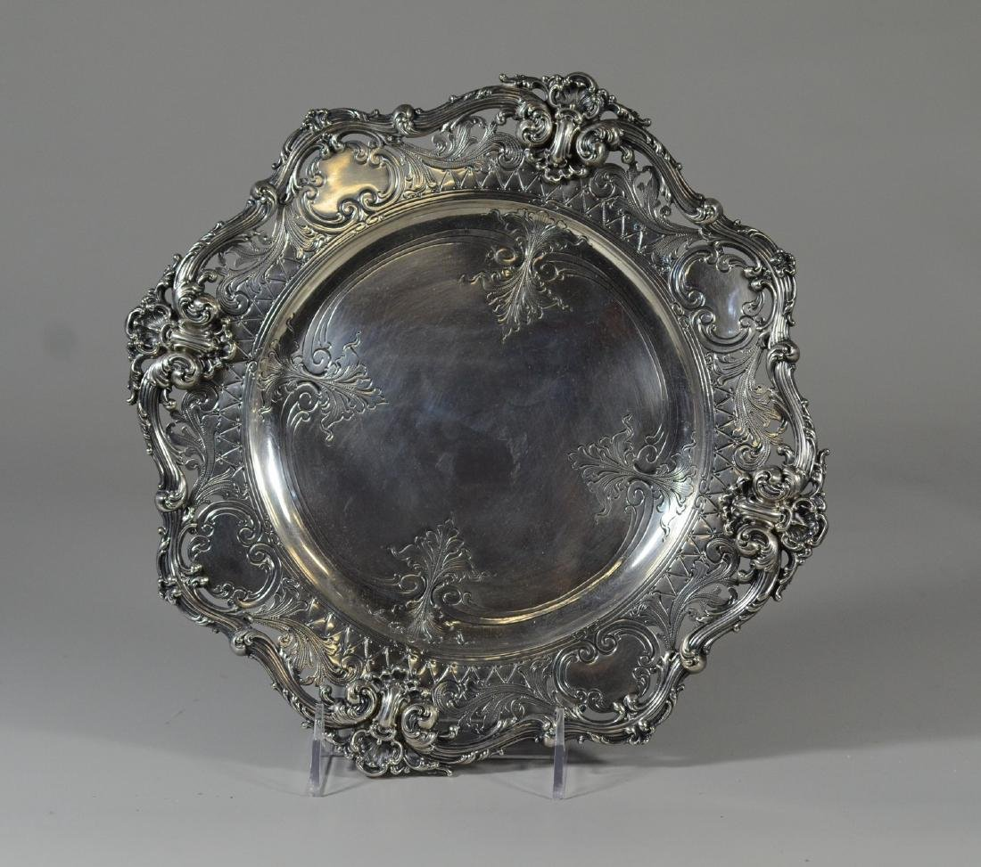 """Whiting sterling silver 10-1/4"""" plate"""